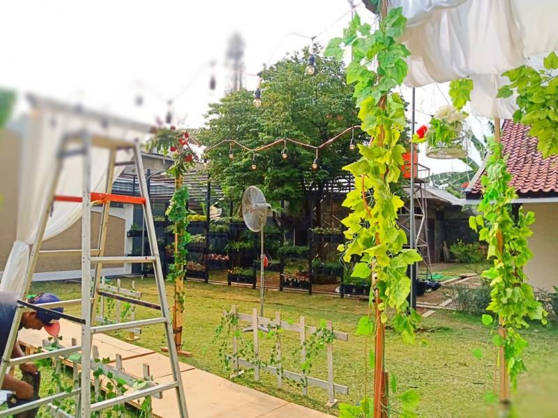 Instalasi Dekorasi Pernikahan Rustic Outdoor Semarang Ks3
